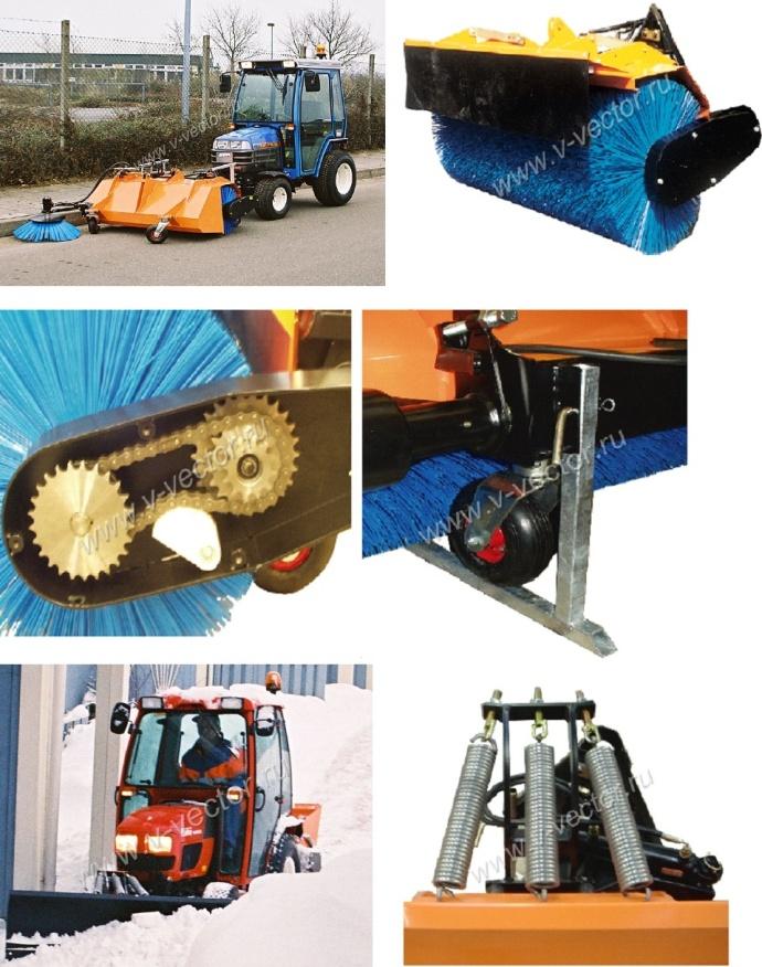 Hydromann Щетки: Sweeper 1,3 , Sweeper 1,5. Ножи-отвалы: Snow ploughs 1,35м, Snow ploughs 1,5м, Snow ploughs 1,75м, Snow ploughs 2,0м